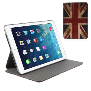 Retro UK Flag Cross Pattern Leather Stand Case for iPad Mini / Mini 2 with Retina display