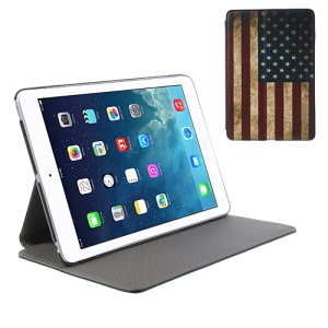 Vintage USA Flag for iPad Mini / Mini 2 with Retina display Leather Stand Case Cross Pattern