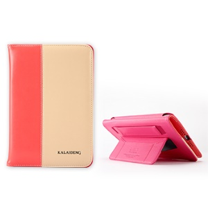 KLD Tao Series Fashion Leather Smart Case Stand for iPad Mini / iPad Mini 2 - Pink