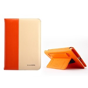 KLD Tao Series Fashion Smart Leather Cover Case Stand for iPad Mini / iPad Mini 2 - Orange