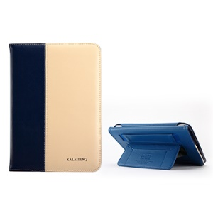 KLD Tao Series for iPad Mini / iPad Mini 2 Fashion Smart Leather Stand Case - Dark Blue