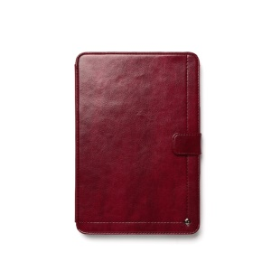 Zenus Neo Classic Diary Smart Leather Cover for iPad Mini / iPad Mini 2 - Wine Red