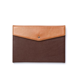 Zenus Envelop Genuine Leather Diary Smart Stand Cover for iPad Mini / iPad Mini 2 - Dark Brown