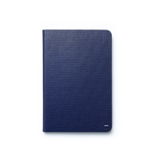 Zenus Metallic Diary Smart Leather Stand Cover for iPad Mini / iPad Mini 2 - Dark Blue