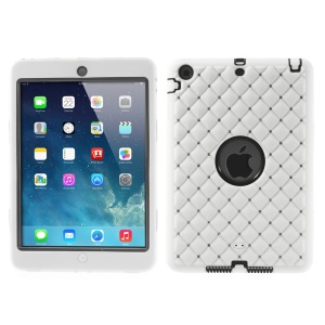 Diamond Starry Sky Silicone & PC Hybrid Protector Cover for iPad Mini / iPad Mini 2 - White