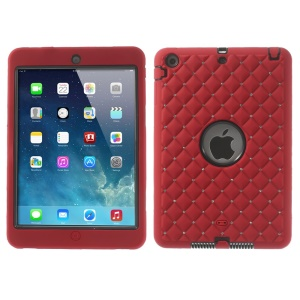 Diamond Starry Sky Durable Silicone & PC Hybrid Case for iPad Mini / iPad Mini 2 - Red