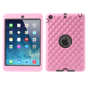 Diamond Starry Sky Silicone & PC Protective Combo Cover for iPad Mini / iPad Mini 2 - Pink