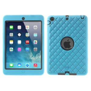 Diamond Starry Sky Silicone & PC Hybrid Tablet Case for iPad Mini / iPad Mini 2 - Baby Blue