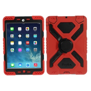 Pepkoo Spider Series Extreme Heavy Duty Case for iPad Mini / iPad Mini 2 - Black / Red