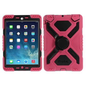 Pepkoo Spider Series Extreme Heavy Duty Case for iPad Mini / iPad Mini 2 - Black / Rose