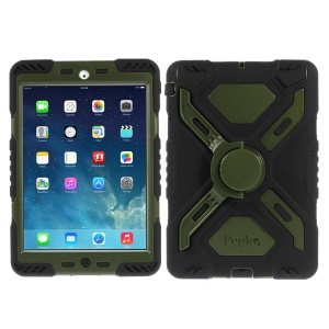 Pepkoo Spider Series Extreme Heavy Duty Cover for iPad Mini / iPad Mini 2 - Army Green / Black