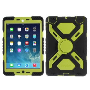 Pepkoo Spider Series for iPad Mini / iPad Mini 2 Extreme Heavy Duty Cover - Green / Black
