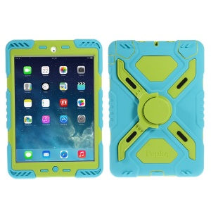 Pepkoo Spider Series for iPad Mini / iPad Mini 2 Extreme Heavy Duty Shell - Green / Blue
