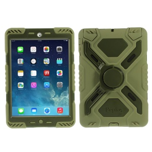Pepkoo Spider Series for iPad Mini / iPad Mini 2 Extreme Heavy Duty Shell - Army Green / Light Green