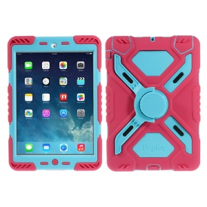 Pepkoo Spider Series for iPad Mini / iPad Mini 2 (Retina) Extreme Heavy Duty Shell - Blue / Rose