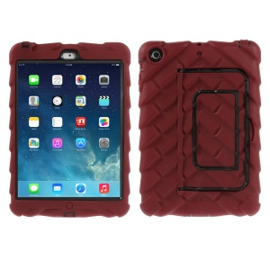 Red Tyre Texture Detachable Silicone & PC Hybrid Case w/ Kickstand for iPad Mini / iPad Mini 2