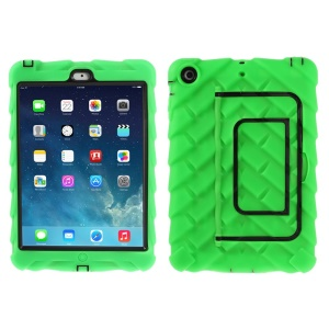 Green Tyre Texture Detachable Silicone & PC Hybrid Shell w/ Kickstand for iPad Mini / iPad Mini 2