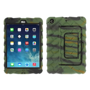 Camouflage Tyre Texture Detachable Silicone & PC Hybrid Shell Cover w/ Kickstand for iPad Mini / iPad Mini 2