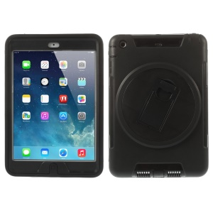 Detachable TPU & PC Hybrid Case w/ Kickstand for iPad Mini / iPad Mini 2 - Black