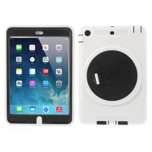 Detachable TPU & PC Hybrid Cover w/ Kickstand for iPad Mini / iPad Mini 2 - White