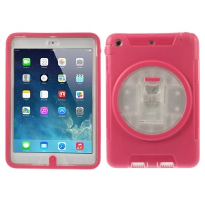 Detachable TPU & PC Hybrid Shell Cover w/ Kickstand for iPad Mini / iPad Mini 2 - Rose