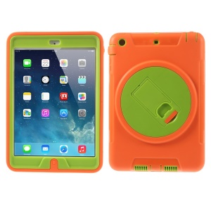 Detachable TPU & PC Hybrid Case Cover w/ Kickstand for iPad Mini / iPad Mini 2 - Orange