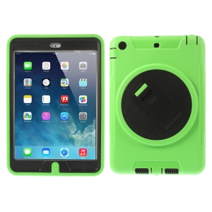 Detachable TPU & PC Hybrid Protective Cover w/ Kickstand for iPad Mini / iPad Mini 2 - Green