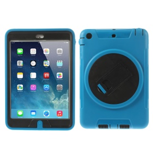 Detachable TPU & PC Hybrid Protective Case w/ Kickstand for iPad Mini / iPad Mini 2 - Light Blue
