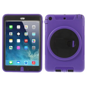 Detachable TPU & PC Hybrid Protective Shell Cover w/ Kickstand for iPad Mini / iPad Mini 2 - Purple