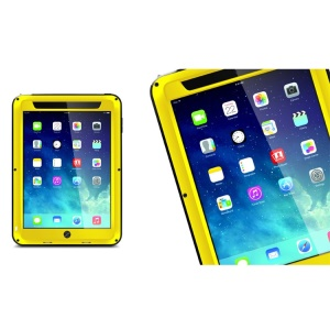 LOVE MEI Powerful for iPad Mini / iPad Mini 2 Metal + Silicone Protective Case w/ Screen Protector - Yellow