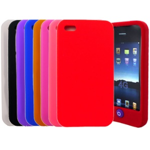Soft Silicone Case Cover for iPhone 4
