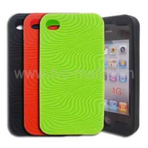 Unique Anti-Slip Figure Silicon Skin Cover Case for iPhone 4th Generation