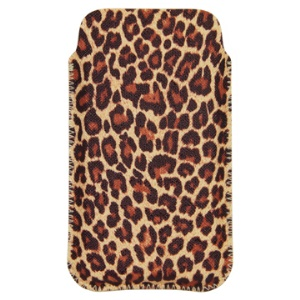Soft Leopard Skin Leather Pouch Case for iPhone 4/4S 3G/3GS, iPod etc