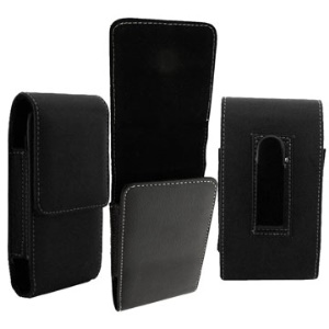 Black Luxe Leather Holster Case for iPhone 4,iPhone 3G,iPhone 3GS,HTC Desire (G7)