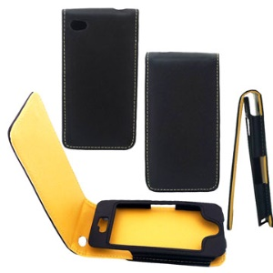 Traditional  Leather Fold for iPhone 4 4S (All Versions)