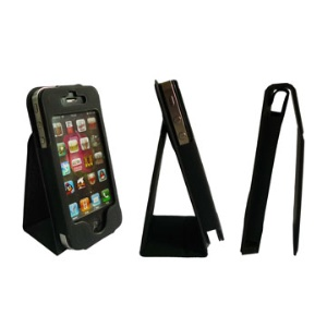 Classic Leather Case with Foldable Stand iPhone 4 4S (All Versions)