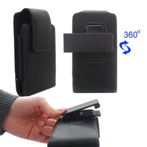 Vertical Leather Pouch Case with Belt Clip for iPhone iPod Touch Blackberry Nokia Samsung HTC etc