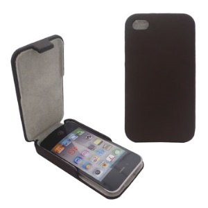 Vertical Flip Leather Case Cover for iPhone 4 4S (All Versions)