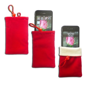 Soft Pouch Case for iPhone 4/4S, iPhone 3G(S), MP3, MP4 and Other Mobile Phone