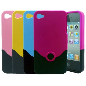 Detachable Combined V Shape Hard Case for iPhone 4 (Matte)