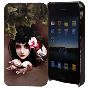 Evil Girl Series Beauty and Fish For iPhone 4 Hard Case Cover