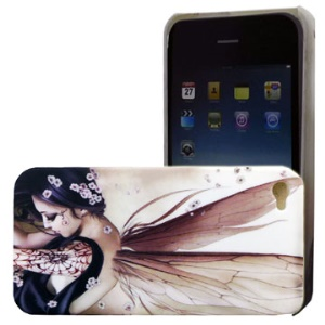 iPhone 4 Beauty with Wings Hard Plastic Case Cover