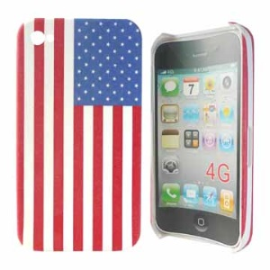 USA American Flag Hard Case for iPhone 4 4S