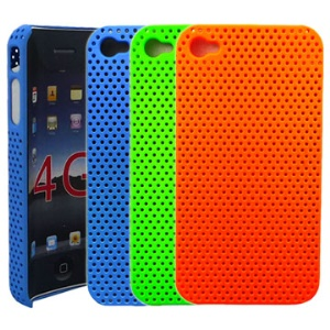 Ventilated Mesh Hard Case Cover for iPhone 4