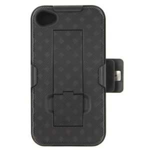 iPhone 4 4S (All Versions) Swivel Belt Clip Holster Plastic Case with Holder