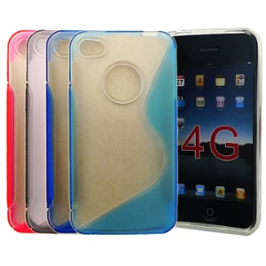 Crystal and TPU Combined Case Cover for iPhone 4g