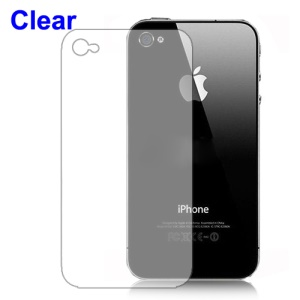Clear Screen Protector Guard Film for iPhone 4 4S - Back