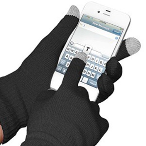 Black Soft Winter Dot Touch Glove for iPhone & iPad & All Static Touch
