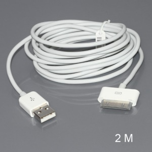 USB 2.0 Data Sync Charger Cable for iPhone iPad iPod, Length: 2M