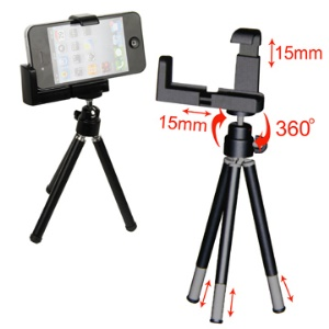 Flexible Tripod Stand Holder for iPhone / Digital Camera and Other Mobile Phones
